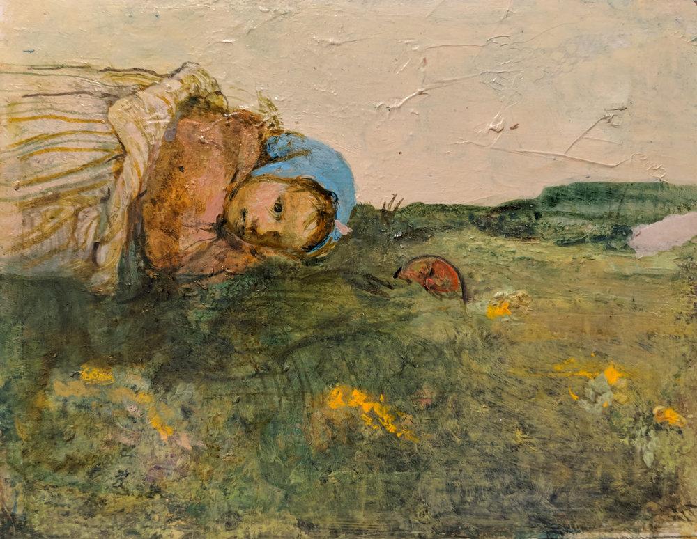 Carolyn Plochmann.   Untitled.  Oil on canvas, 6.25 x 8.25 in.