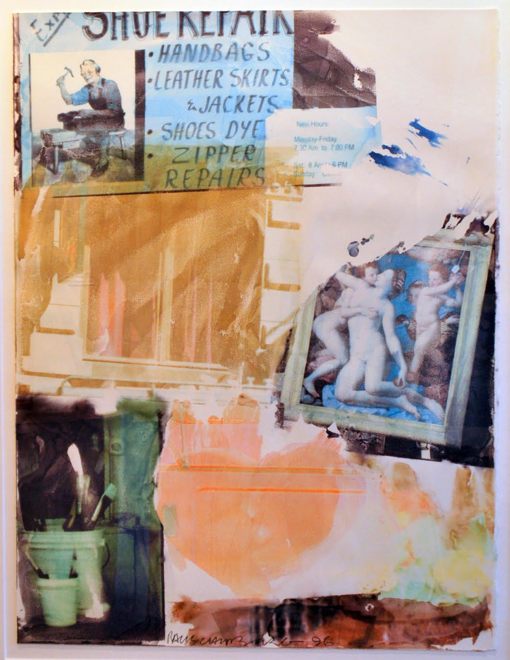 Robert Rauschenberg. Heartistic Call (Anagram), RR.96.147, 1996