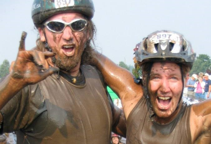 Brother and I years later at the Muddy Buddy