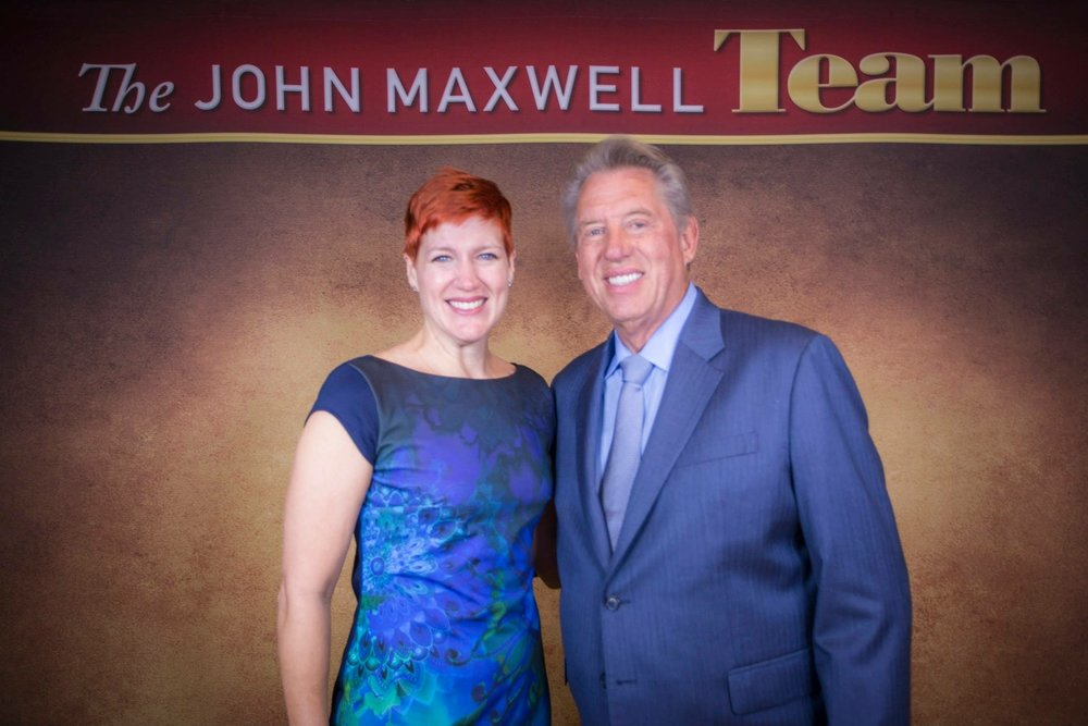 Anne with teacher, mentor and leadership guru John Maxwell.