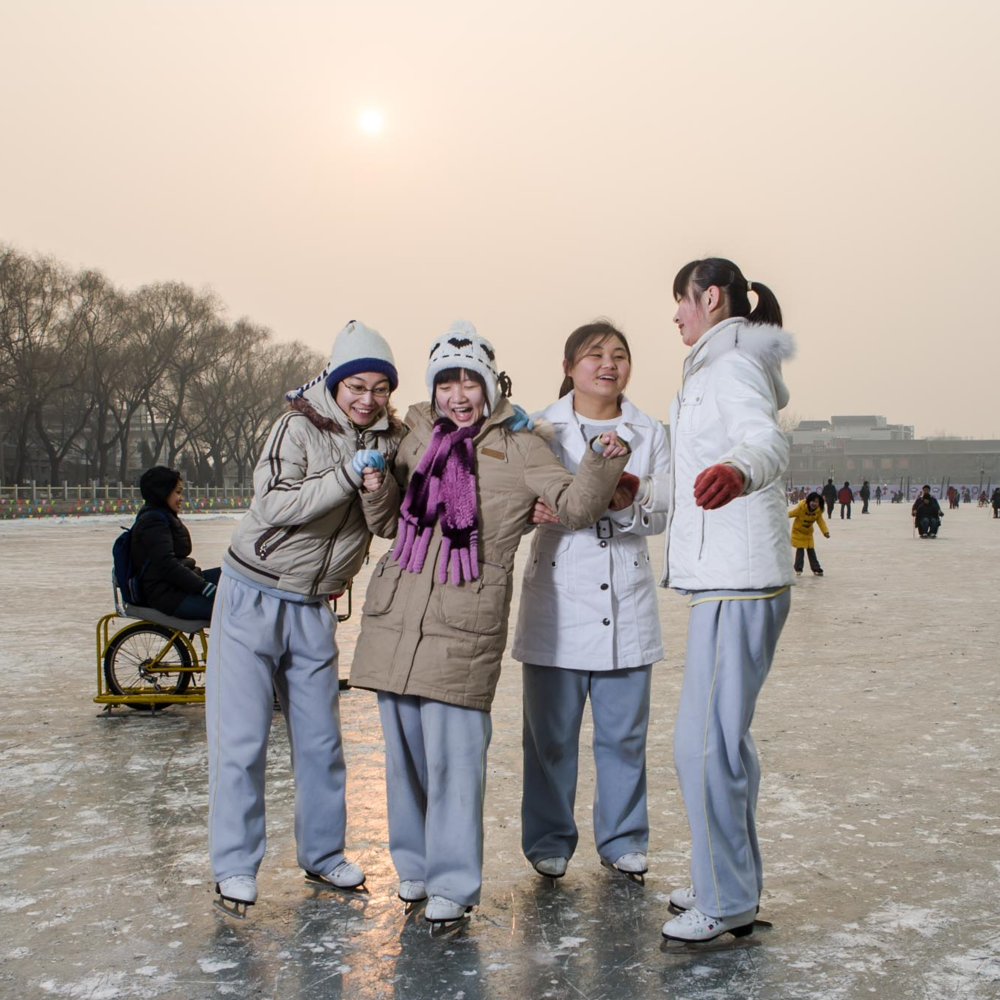 The Frozen lake of Beijing