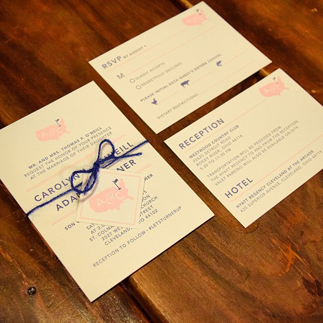 Totally in love with these letterpress #weddinginvites designed for @cmoness! Amazing quality and customer service at #thomasandbrownpress in Oak Park, IL.