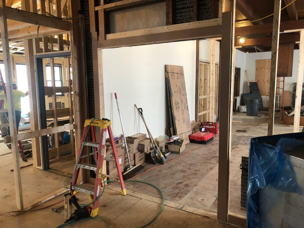 NEW DOORWAY FROM ENTRY TO MULTIPURPOSE ROOM
