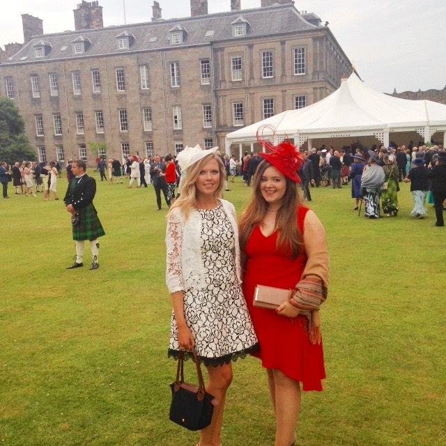 Student Director Lindsay McCormick (L) and Director Anna Robertson (R) at Holyrood