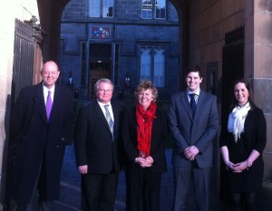 From L: Lord Woolman, Gary Allan QC, Lady Dorrian, Ryan Whelan and Sarah Miller