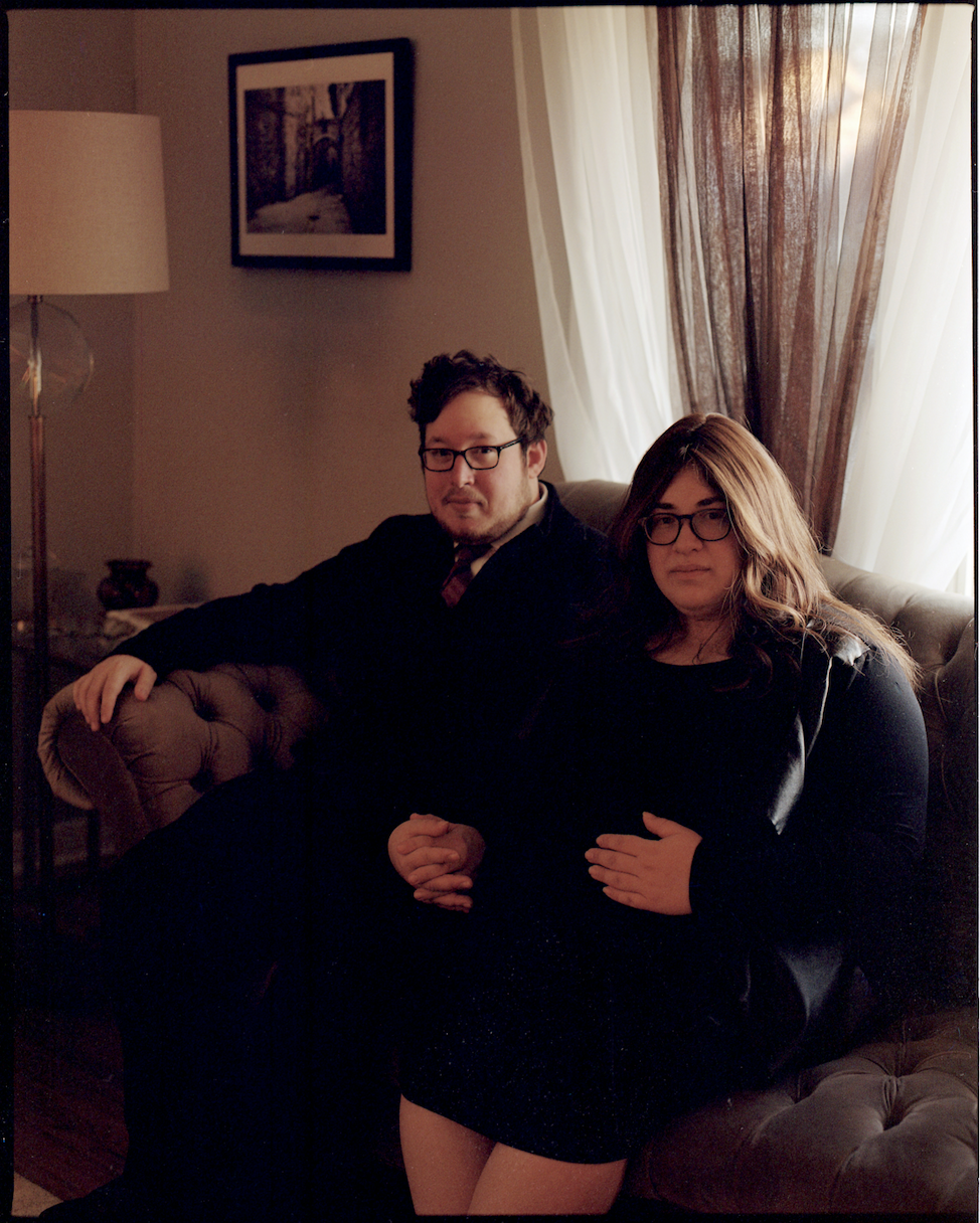Yossi and Jodi Kashnow, 1 week before the birth of their first child. NJ 2018