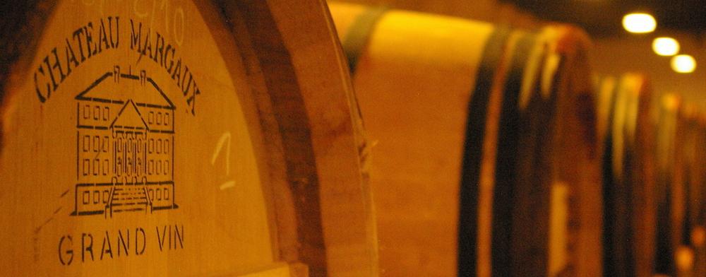 Barrels at Château Margaux