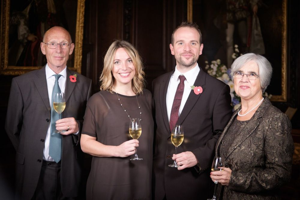 With family at my MW graduation. Photo courtesy of  The Institute of Masters of Wine  / Mike Williams