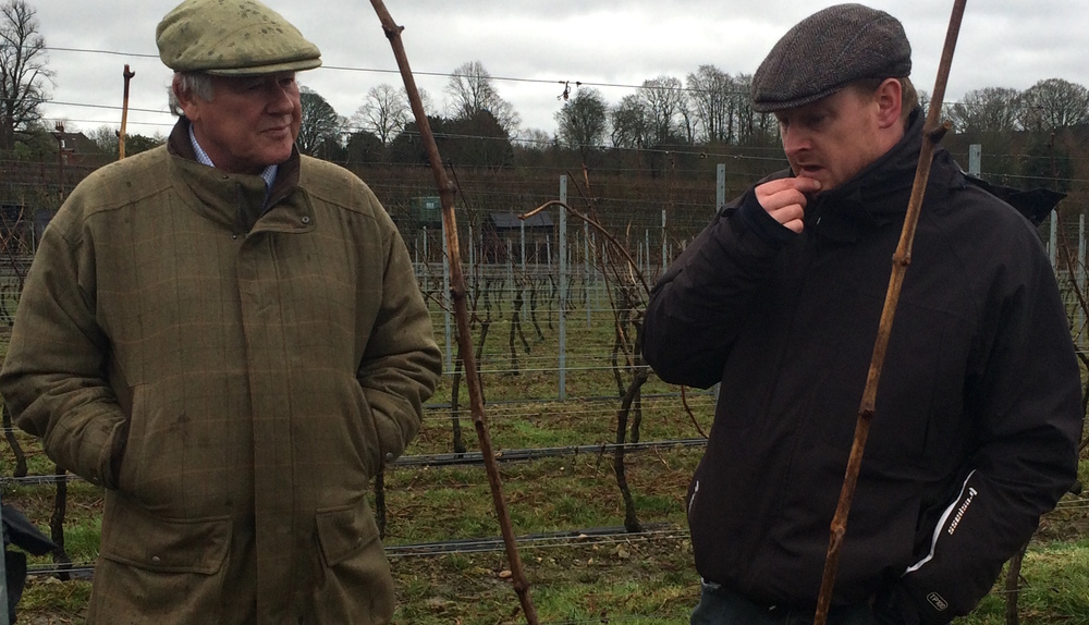 Simon Bladon (owner) and Dermot Sugrue (winemaker), Jenkyn Place, March 2016