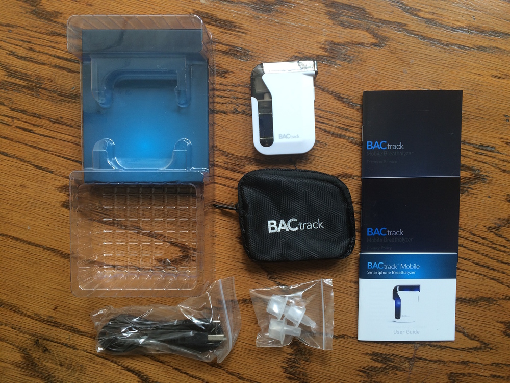 The BACtrack Mobile unpacked