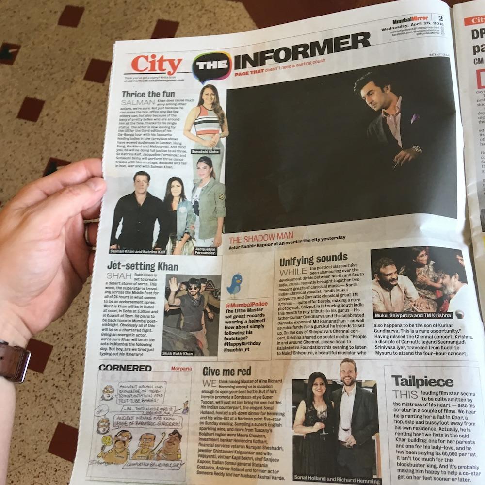 Mumbai Mirror page.JPG