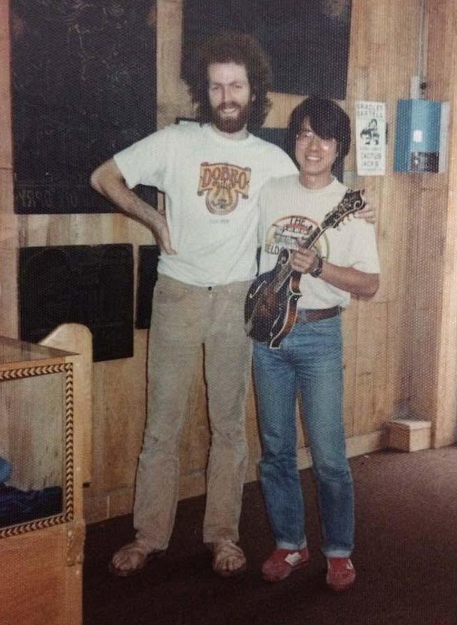 Photo:Hideo Maeda at Gruhn Guitars, Nashille, 1980