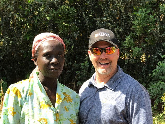 One of the widows, Lonika, who we are building an outhouse for. Huge impact in the community as the widows are outcasts in Kenya.