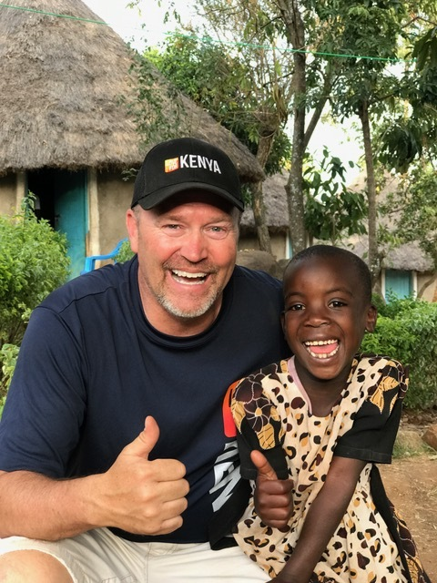 Randy and Sally who his family sponsors through Love For Kenya.