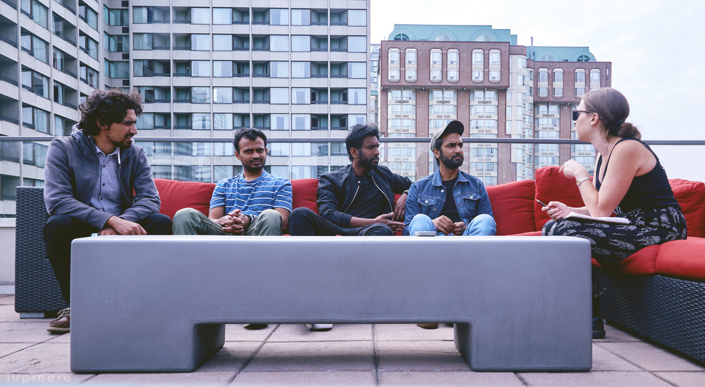 From left to right: Kashif Iqbal, Fidel D'Souza, Sachin Banandur, and Khalid Ahamed, Elle Côte photo cred: Sambaranthony
