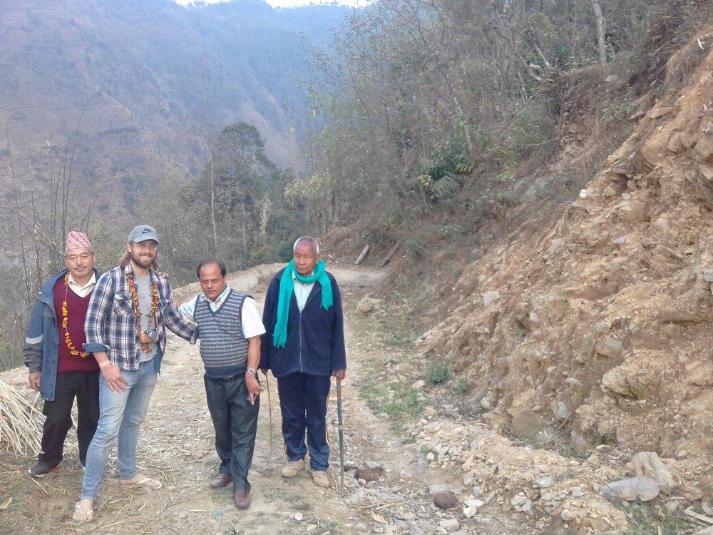 Geraint, Parma and Community members inspecting landslide prone sites.jpg