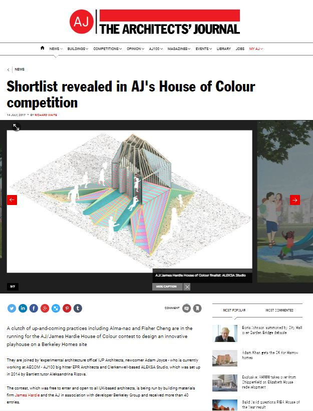 Shortlist revealed in AJ's House of Colour competition