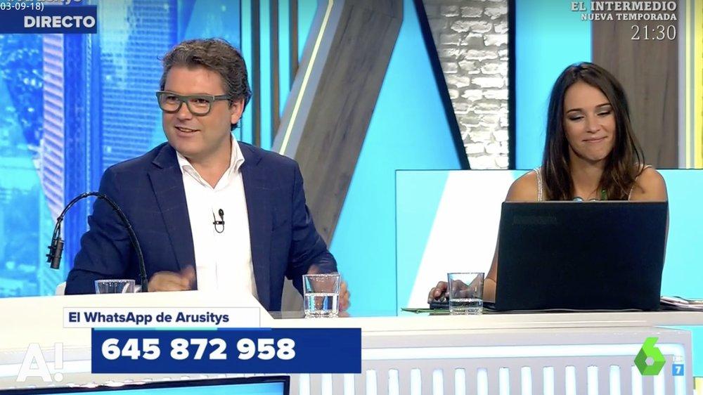 Marc Vidal en Arusitys de La Sexta