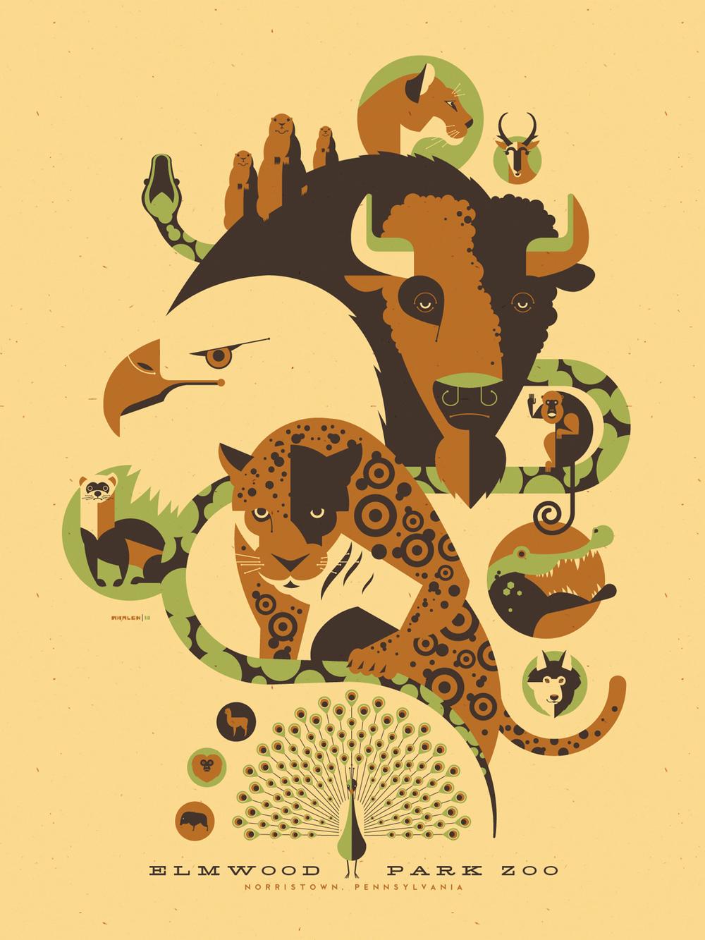 Zoo poster design - Elmwoodzoo Jpg