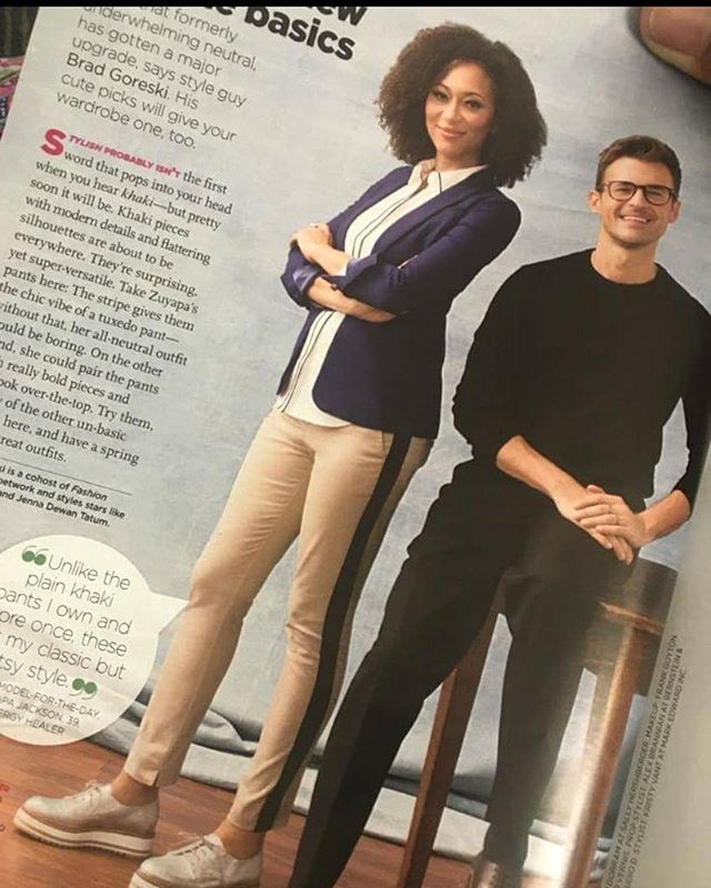There's lots of meaningful stories I could tell you about this day when I got to be myself in a fashion story for Redbook Magazine. But for now, I'll tell you that @bradgoreski is cool, fun, talented, super cute and great to work with...and on this day I learned of Ariana Grande thanks to Spotify's daily mix. #winning