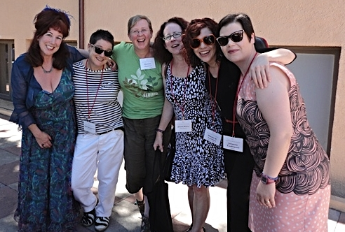 "With fellow panelists Annie Sprinkle, Beth Stephens, Dee Heddon, Jennie Klein, and Johanna Tuukkanen, for the 2013 Performance Studies international Conference held at Stanford University (panel on ""Eco Art Performance: Deep Time and the Now of Environmental Performance"")."