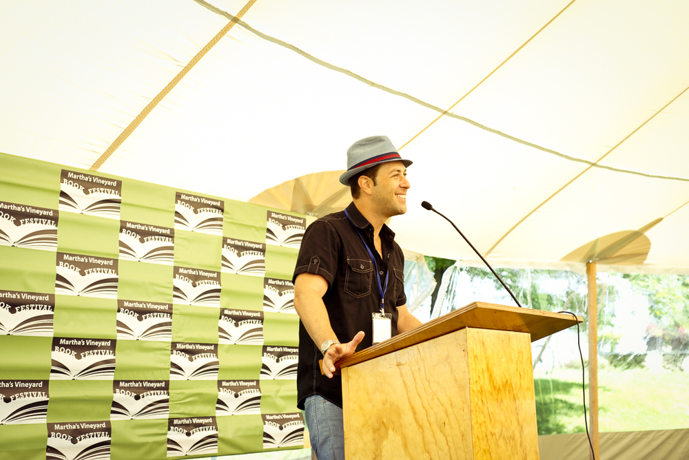 Adam Mansbach speaking at 2013 festival, credit Gabriela Herman.jpg