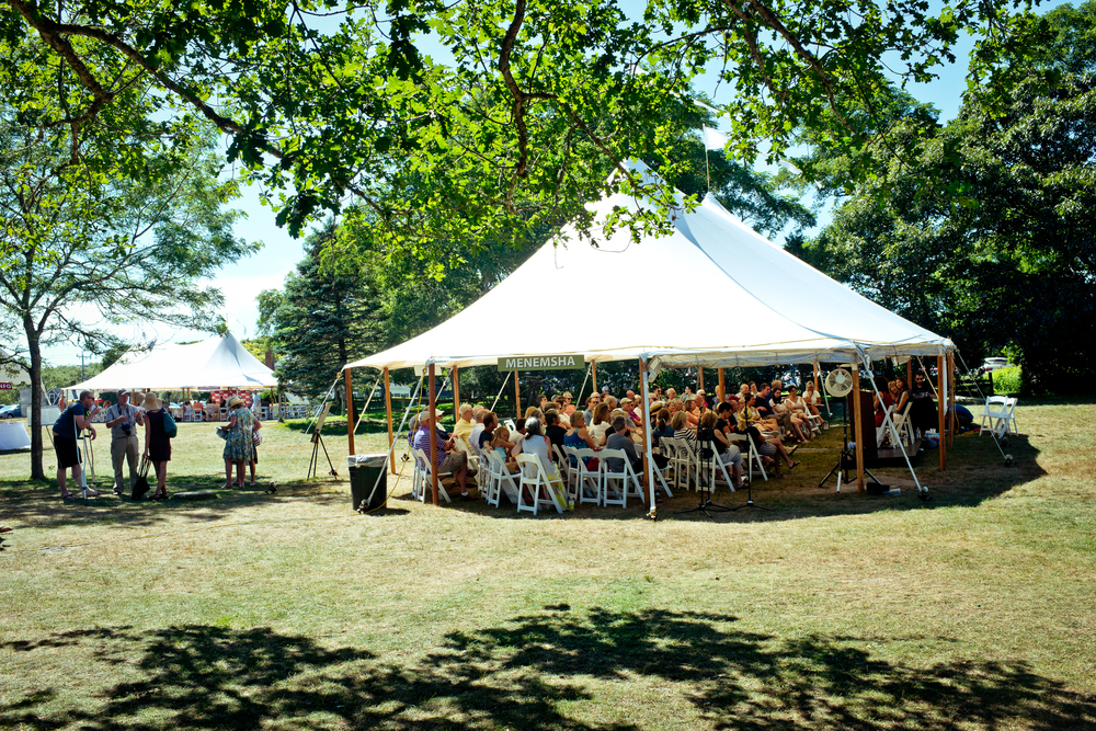 The book festival tents