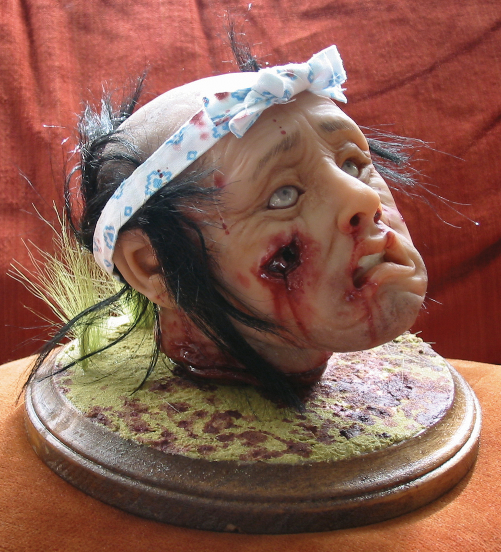"Severed.  2005 - polymer clay. 7"" x 5"""