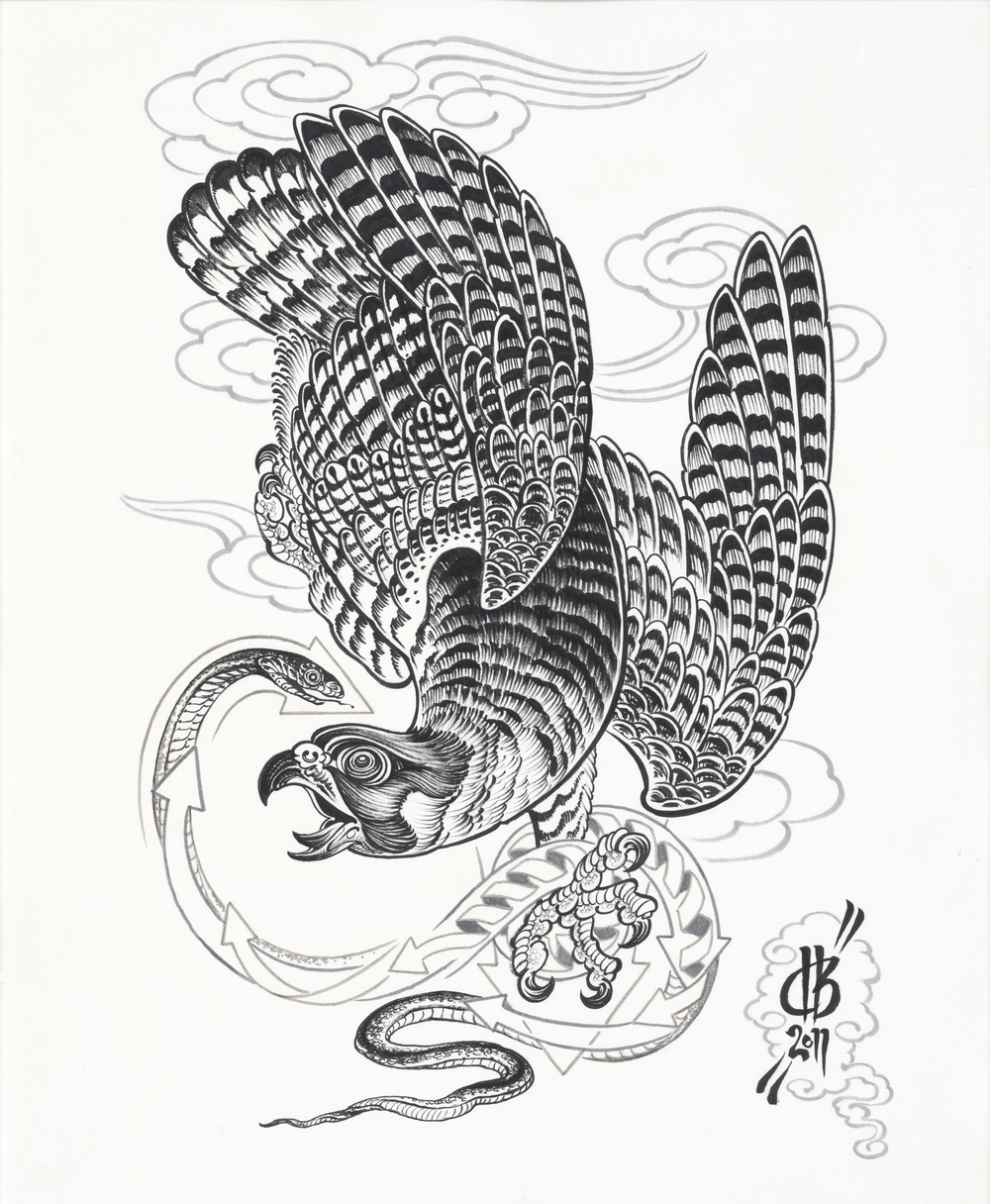 Tai Chi.  2011 - ink on paper.