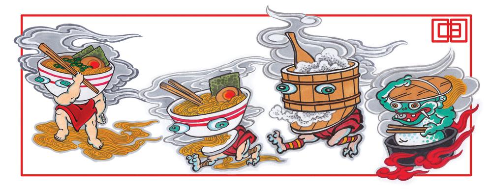 Oishii Action Team.  2014 - ink on paper