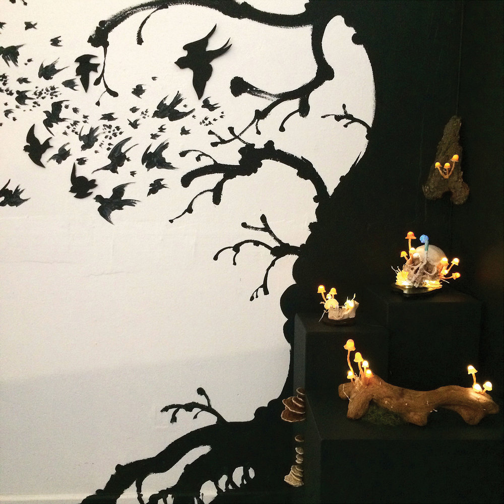 "Installation at ""Beware! Yokai!""-Empire Seven Gallery, October 2014."