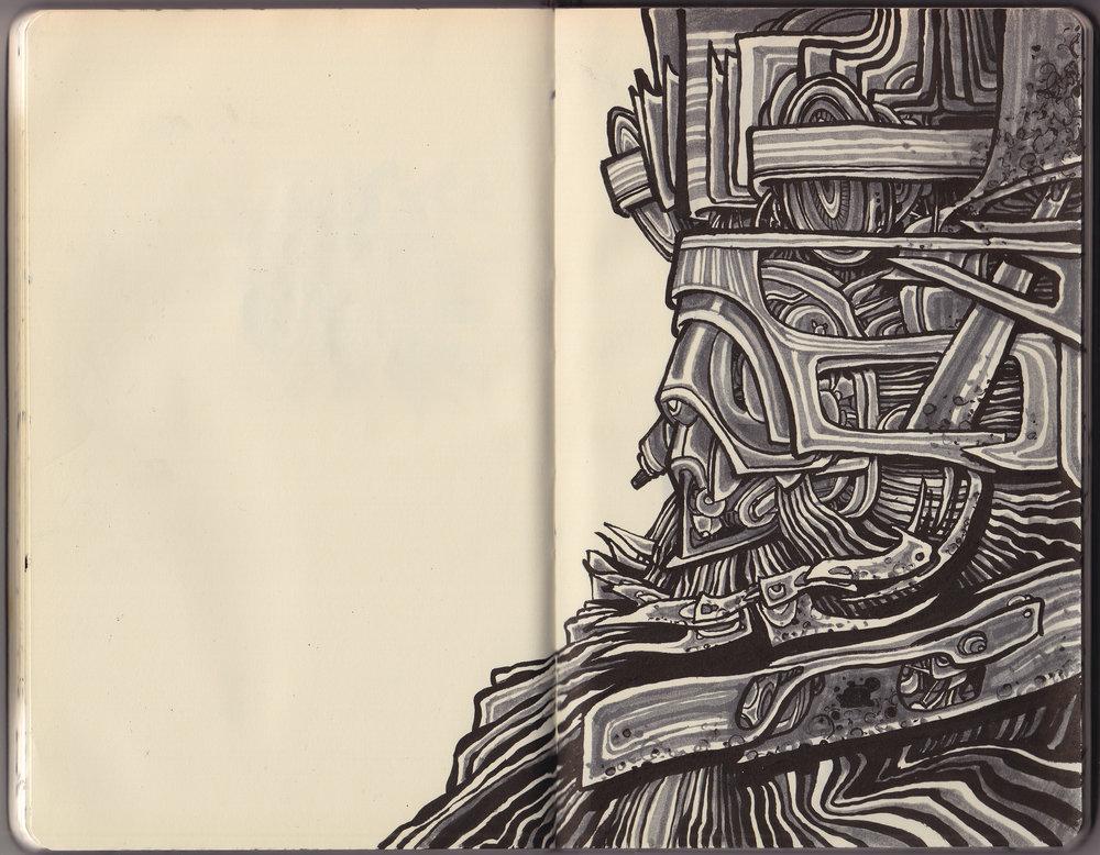 Sketchbook selection, 2016.
