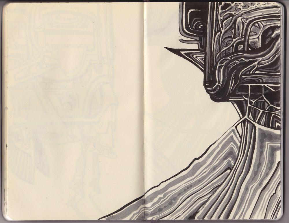 Sketchbook selection, 2015.