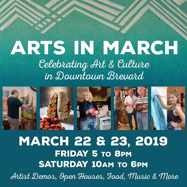 """Arts In March starts tomorrow night! Can you spot Starfangled Press in the commercial?  Join us in celebrating the arts in downtown Brevard.  First up, we have an artist reception Friday night from 5-8 pm for the Asheville Printmakers and their fantastic  group show """"Networks'. Light snacks and complimentary wine and beer from @oskarblueswnc will be here for you too!  On Saturday, stop by any time from 11-5 to our 1907 Chandler and Price platen press """"Marshall"""" in action.  While you're in town, don't forget to check out all of the other awesome artists in galleries in this wonderful place we call home.  A few of our faves include: @beboutiquebrevard @shoppoplarandash @brevardclay @artistsworkstudiogallery @localcolor @sundragonartandfiber  We can't wait to see you this weekend!  #starfangledpress #printmaking #art #arts #artist #artsinmarch #ncartist #ncart #visitnc #wncmountains #wncart #828 #828isgreat #ashevillenc #artsandculture #ashevilleart #brevardnc #transylvaniatrue #hendersonvillenc #pisgahnationalforest #pisgahprintmakers"""