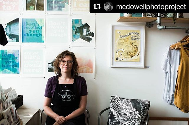 Thrilled to have welcomed @mcdowellphotoproject into the shop last week! Be sure to take a look at more of her beautiful work and give her a follow.  #Repost @mcdowellphotoproject (@get_repost) ・・・ Kristen Necessary. Don't worry, her art is as amazing as her name. This lady is not only a well versed artist, but also a business owner, female-artist supporter and advocate, wife, AND MOM! And she still had the energy to welcome me into her beautiful world. Stop by her store on Jordan Street in Brevard, NC.  #starfangledpress #printmakingshop #printmakingstudio #printmakinggallery #supportlivingartists #supportwomenartists #brevardnc #transylvaniatrue