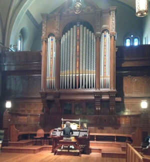 Janet playing organ Sept 27 2015.jpg