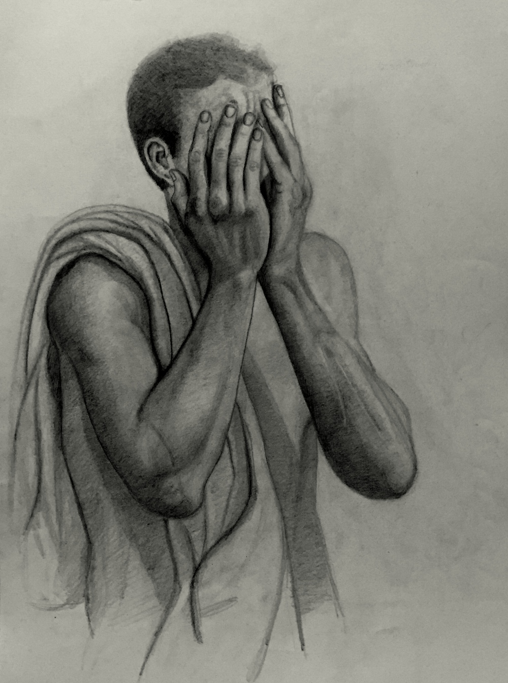 Study for The Expulsion, Graphite