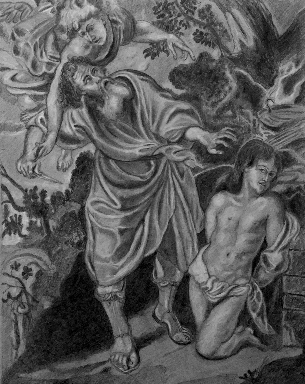 "Study of Ruben's ""Sacrifice of Isaac"""