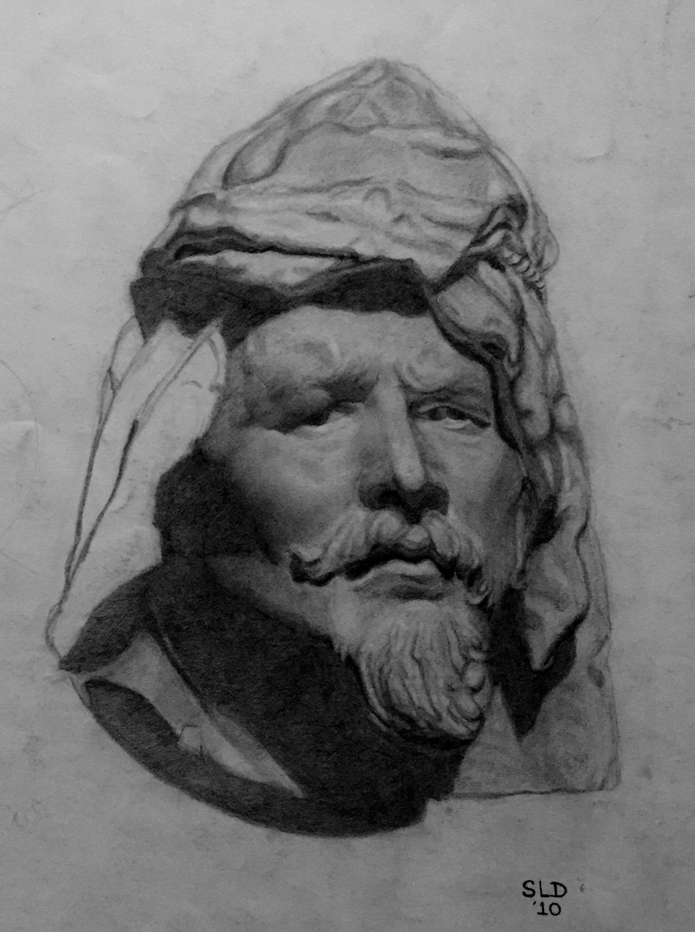 Cast drawing of a Florentine Man