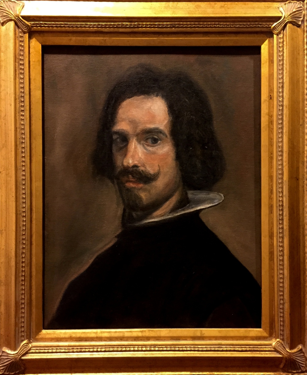 Oil study of Velasquez' Portrait of a Man