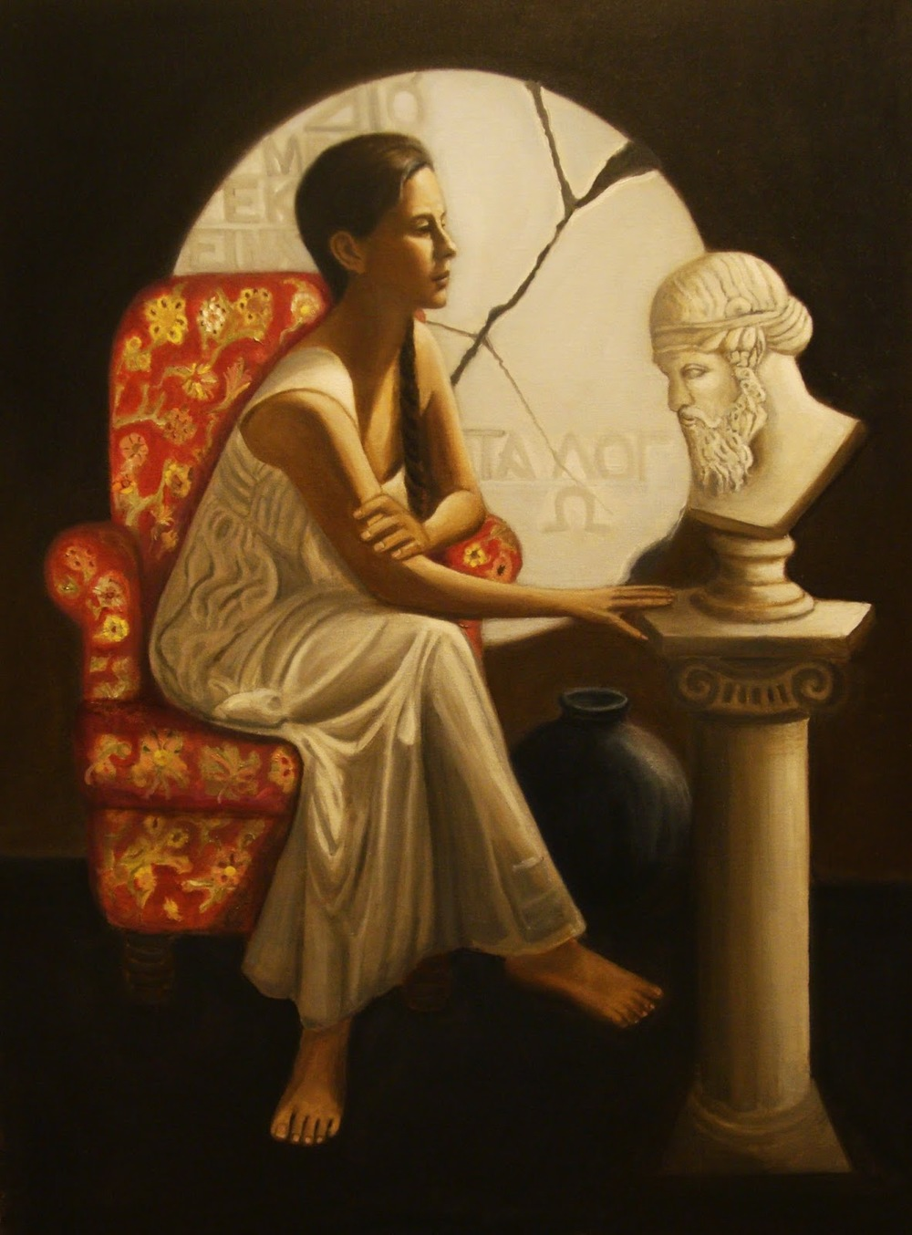 Hypatia Contemplating Plato Painting 5-23-14.jpg