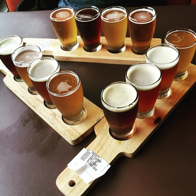 : Flights of four Friends of three Two new tastes One place to be @thefederalbar #beer #poetry