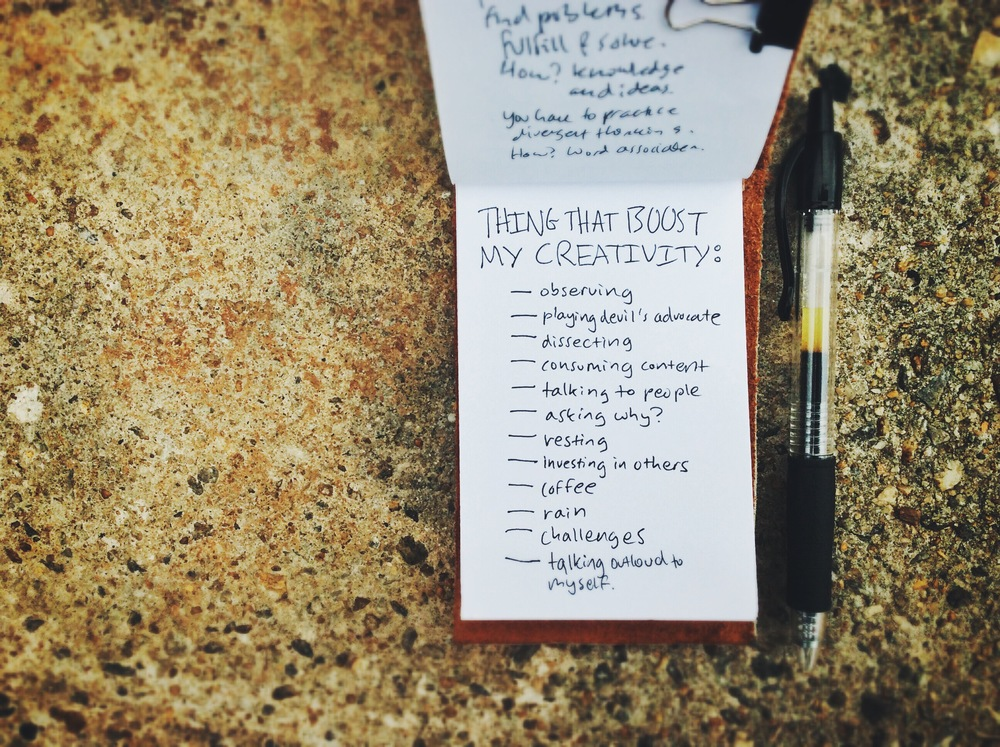 creativity boosters