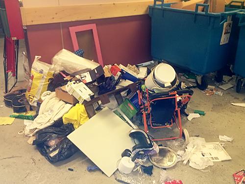 Brukar mest finnas sopor i soprummen (lånad bild)