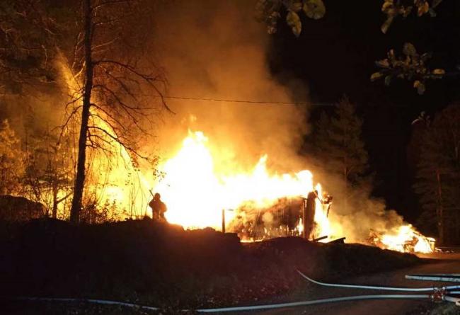 Brand i boende i Oktober förra året