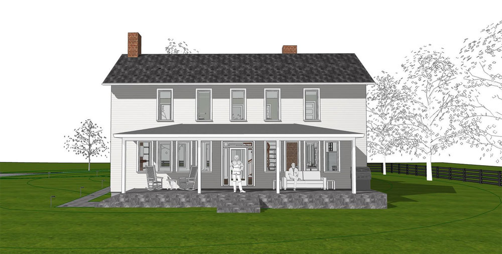 RENDERING OF PROPOSED NORTHEAST ELEVATION