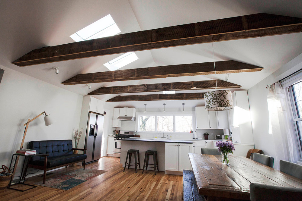 NEW VAULTED CEILING & SKYLIGHTS