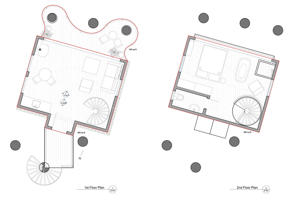 OPTION 2: 1st & 2nd FLOOR PLANS