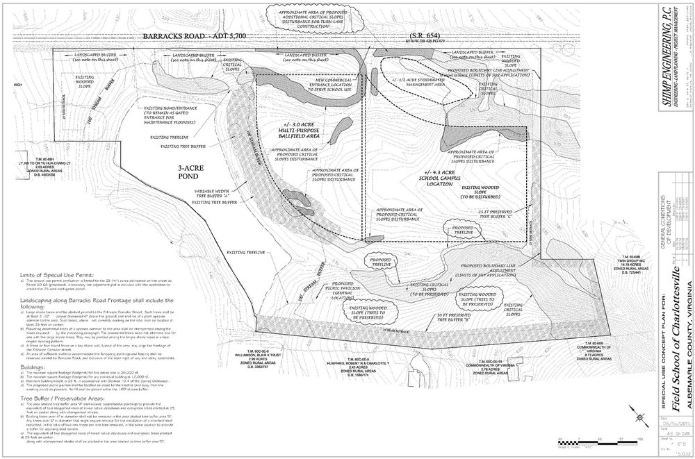 CIVIL SITE PLAN BY SHIMP ENGINEERING