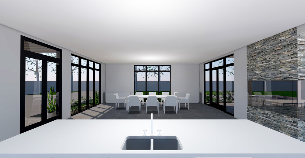 KITCHEN TO DINING PERSPECTIVE